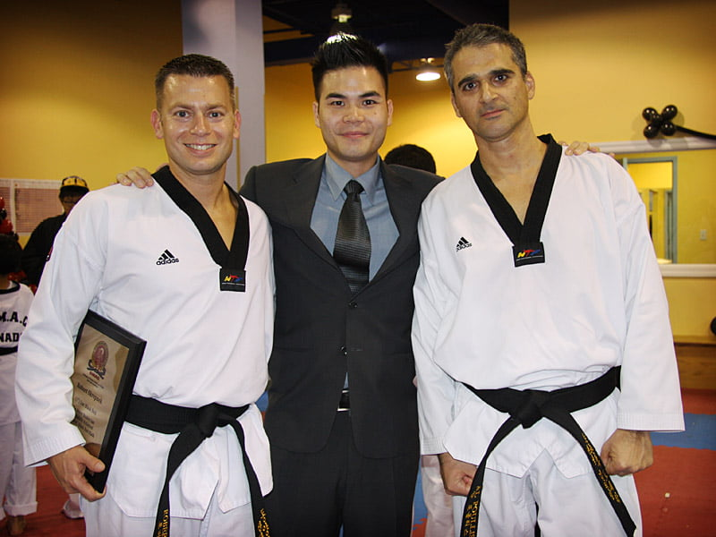 With Master Harrison and my training partner Rob Skrepnek
