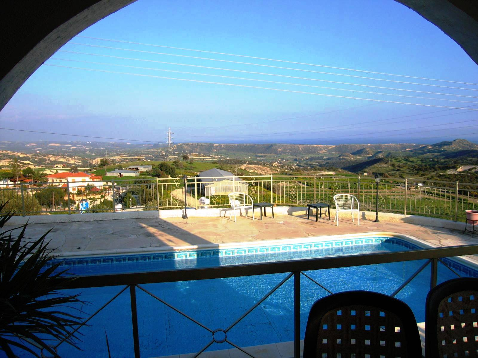 View from David's home in Pissouri, Cyprus