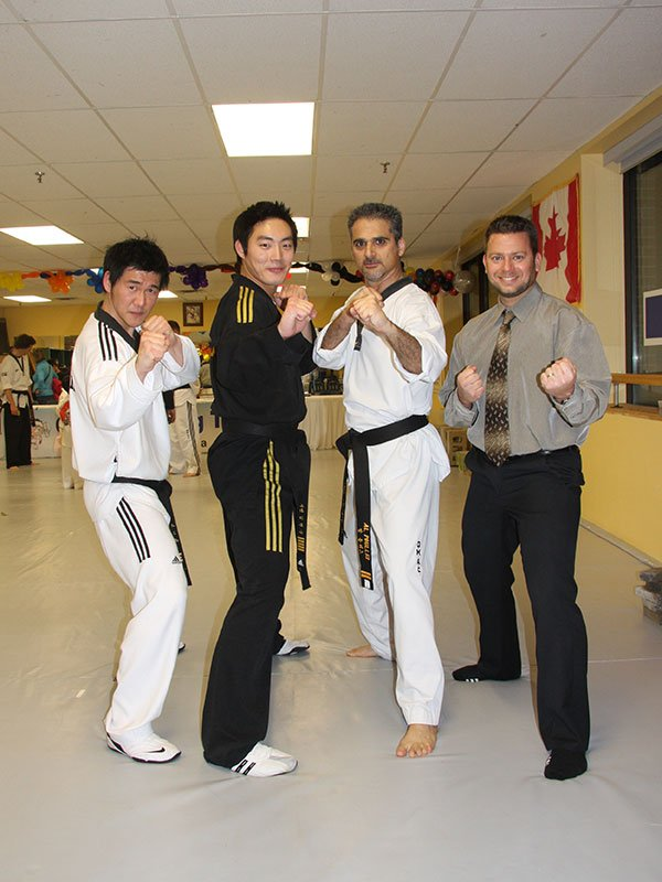 With Instructor Ki, Master Min and Rob Skrepnek