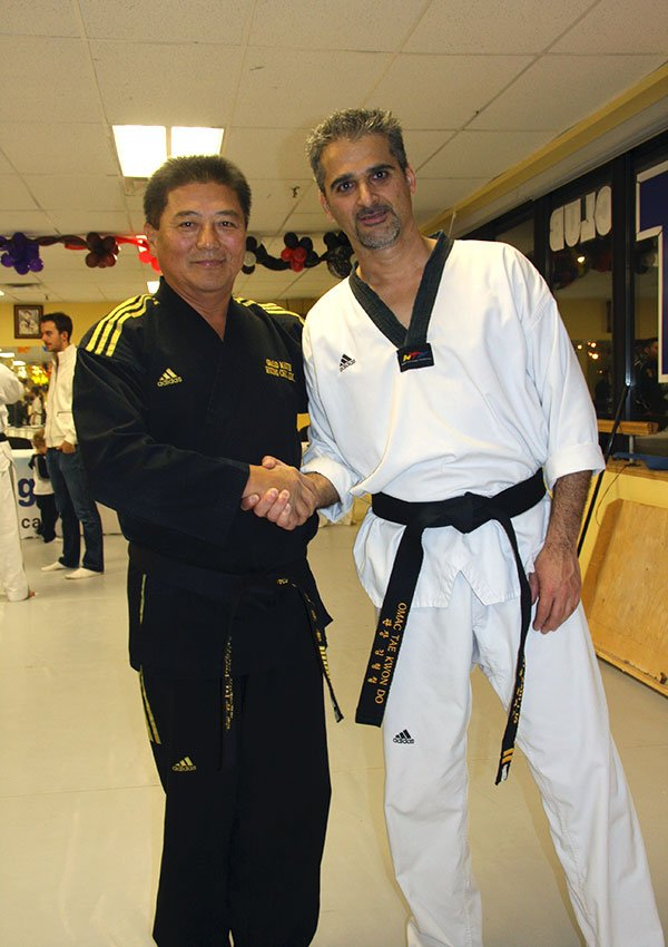 With Grandmaster Kim